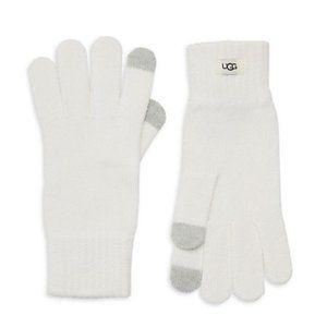 UGG Women's Tech Knit Gloves - Ivory Heather NWT